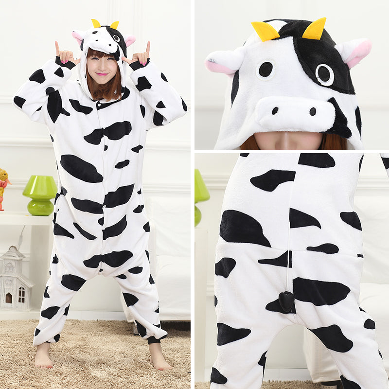 Winter cow conjoined pajamas YC22148