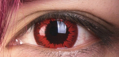 Red contact lenses (two pieces) YC21900