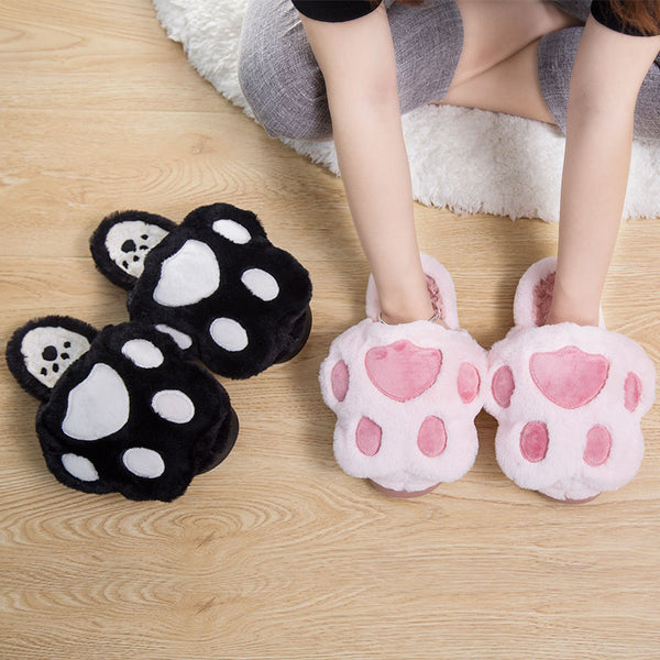 Cute cat claw cotton slippers yc20495