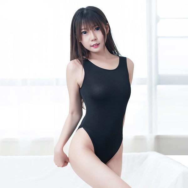 Japanese black and white swimwear without chest pad YC20207