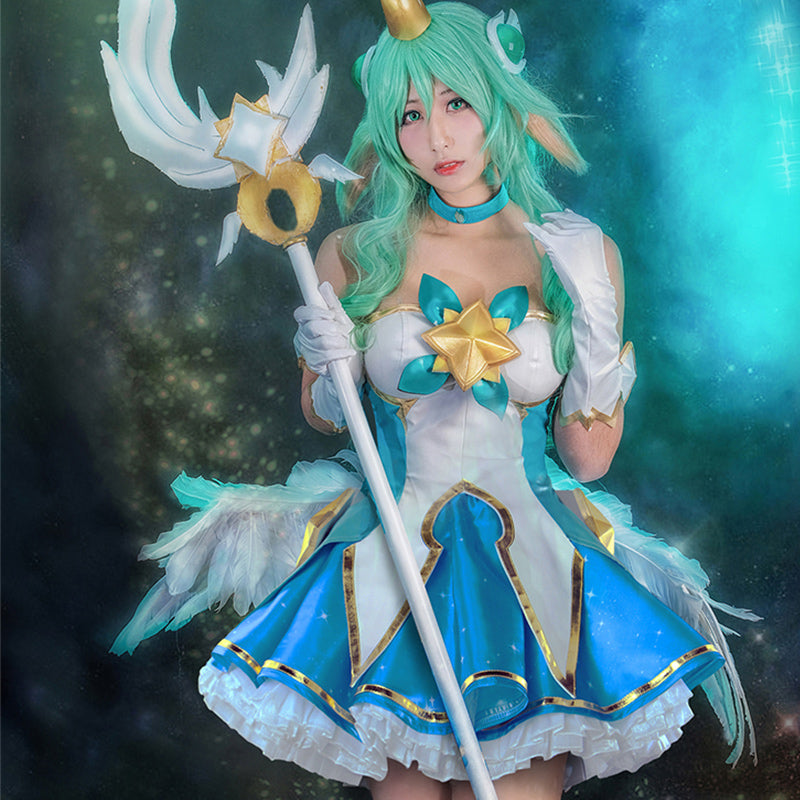 LEAGUE OF LEGENDS- Soraka Cosplay Star Guardian Skin Clothing YC20116
