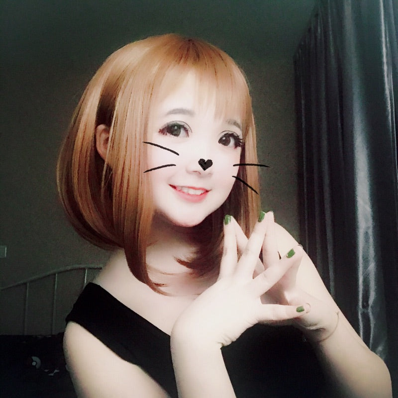 My hero academia COS brown wig YC20306