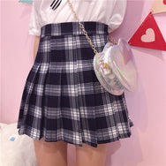 Lolita Plaid High Waist Skirt YC21578