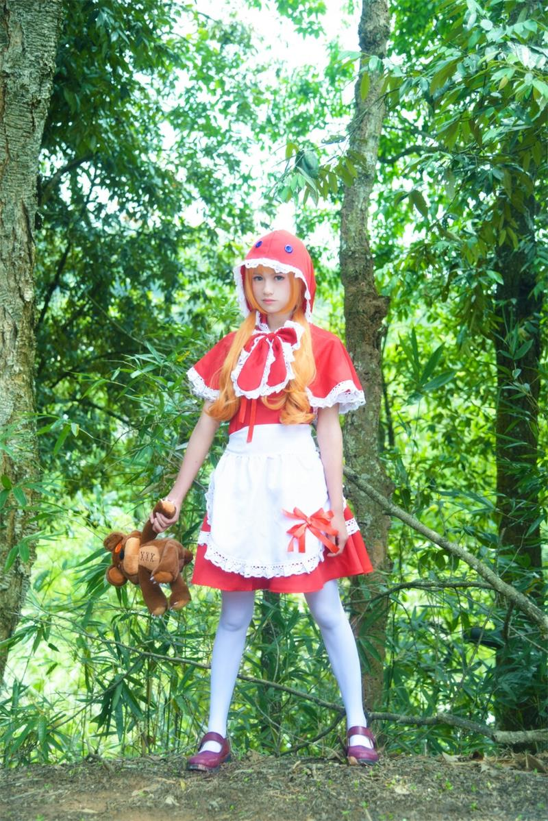 LOL Little Red Riding Hood Anne Sexy Maid Cosply Costume YC20108
