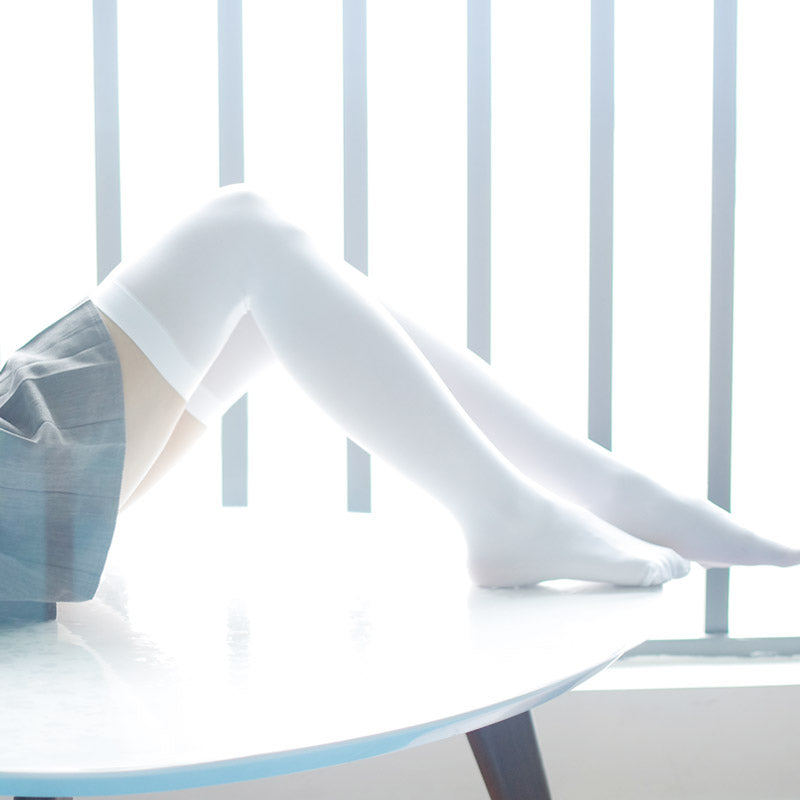 Cosplay sweet white JK stockings YC3004