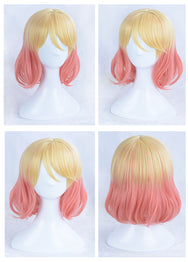 Catherine·Ward Yellow pink Gradient Cos Wig YC20298