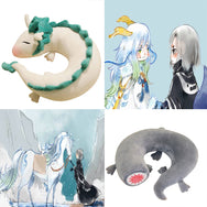 Spirited Away small white dragon neck pillows YC20243