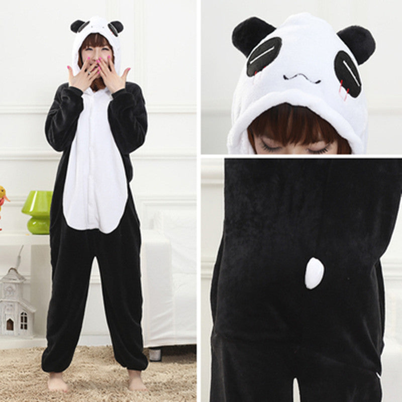 Winter giant panda one-piece pajamas YC22102