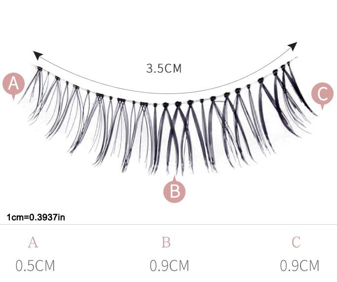 Natural Simulation False Eyelashes MS1017