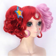 Colorful unicorn cos wig + tiger mouth clip YC22088