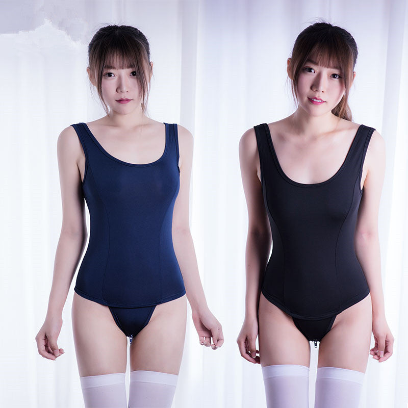 Japanese zipper swimsuit without chest pad YC20193