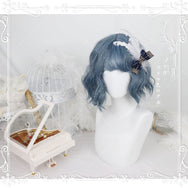 Lolita cos Light blue wig (gift Hair net) YC20288