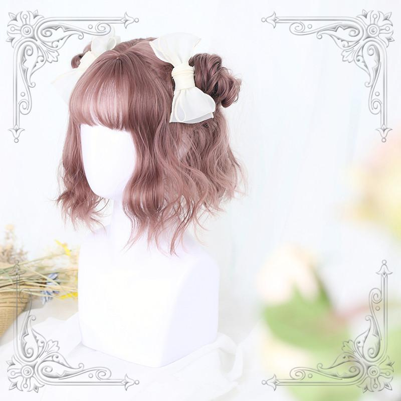 Rose Gray Air Bangs Wig YC40005