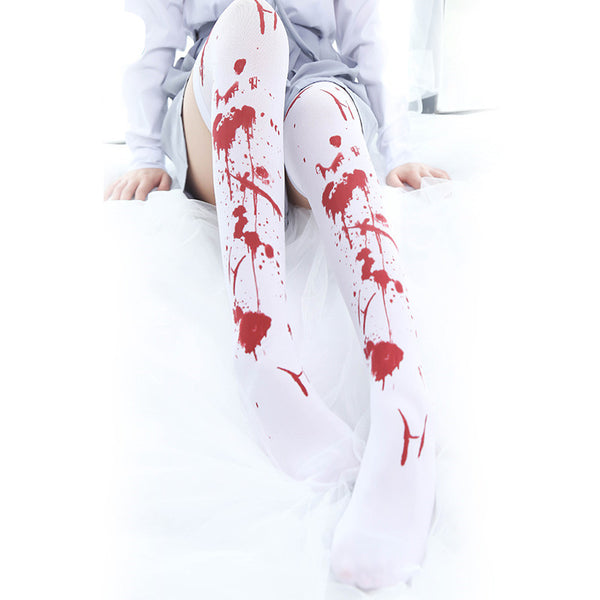 Halloween COS bloodstaining socks YC20200