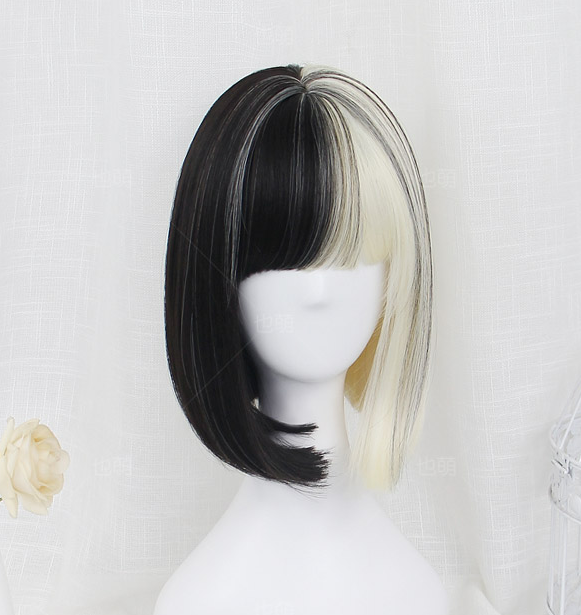 Lolita black and white wig yc20594
