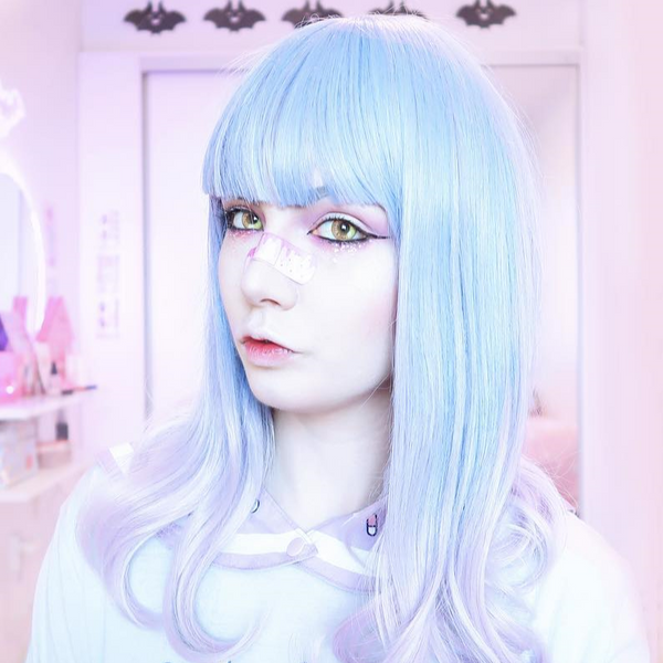 Lolita blue wig (gift Hair net) YC20218