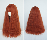 Cute orange curly hair wig yc20659