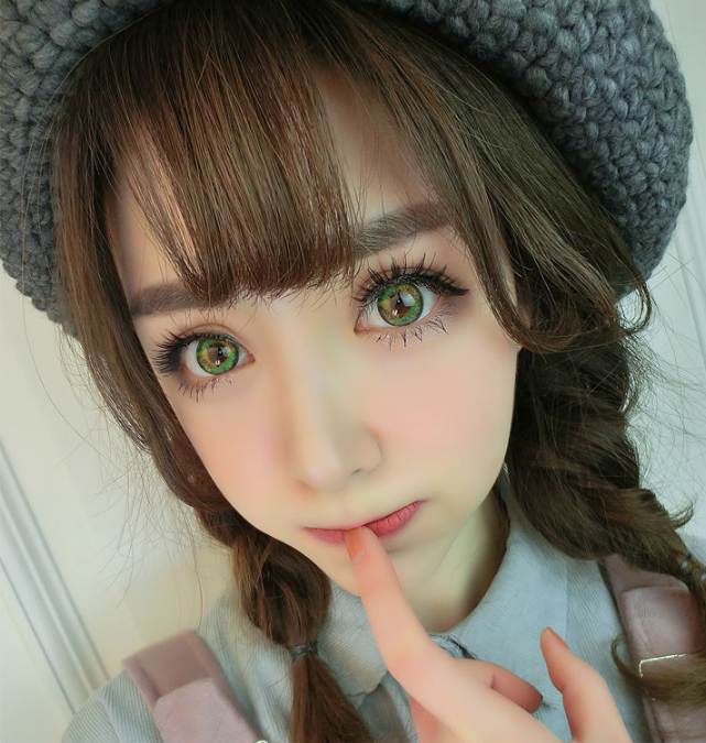 COS Brown(Two piece)Contacts Lens yc20805