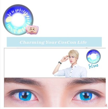 COSplay Blue(Two piece)Contacts Lens yc20750