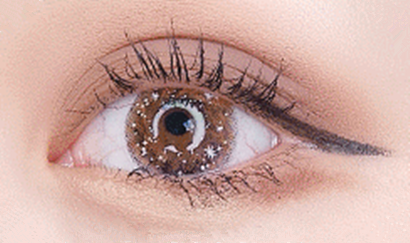 Second generation Galaxy Brown Contact Lens (two pieces) YC21906
