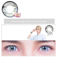 COSplay Gray(Two piece)Contacts Lens yc20753