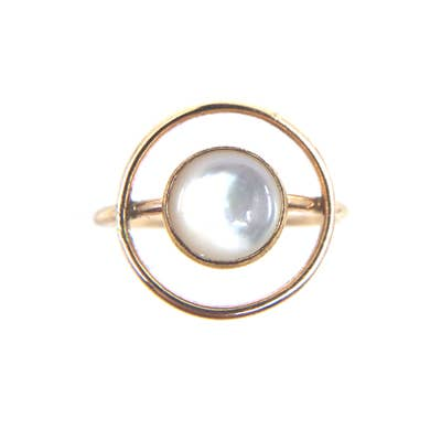 Orbit Mother of Pearl Ring