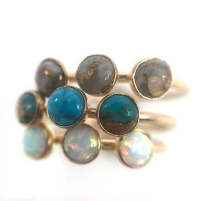 Sisters Turquoise Ring