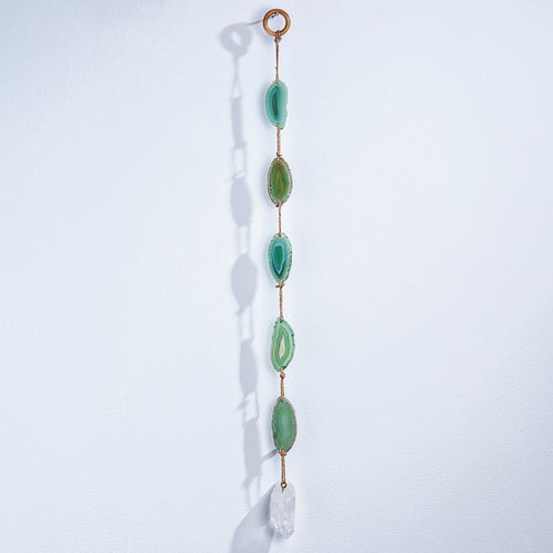 Green Agate with Quartz Suncatcher