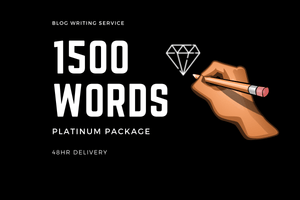 Blog Writing 1500 Words (Platinum) - DucaBay