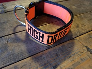 "2"" wide ""HIGH DRIVE ASSHOLE"" Dog Collar"