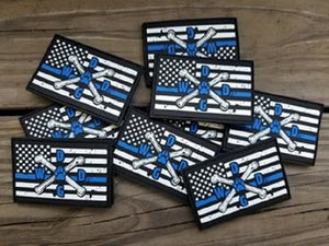 Thin Blue Line Flag PVC Patch