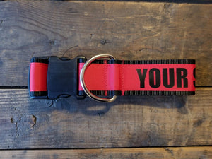 "2"" wide ""YOUR SHIT'S WEAK"" Dog Collar"