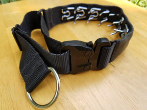 Custom Painted Leather Tactical Covered Prong Collars