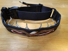 Load image into Gallery viewer, Custom Painted Leather Tactical Covered Prong Collars