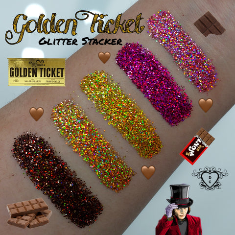 GOLDEN TICKET GLITTER STACKER