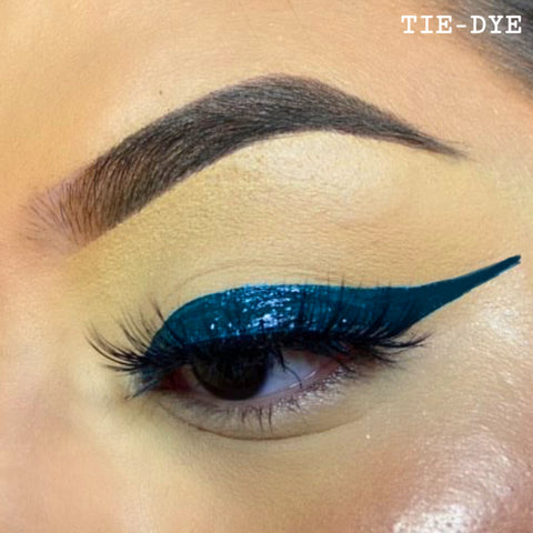 TIE-DYE - DARK GREEN GRAPHIC LINER