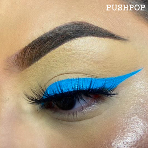 PUSHPOP - AQUA BLUE GRAPHIC LINER
