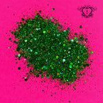 SOUR APPLE HOLOGRAPHIC CHUNKY GLITTER