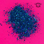 BLUE RAZZ HOLOGRAPHIC CHUNKY GLITTER