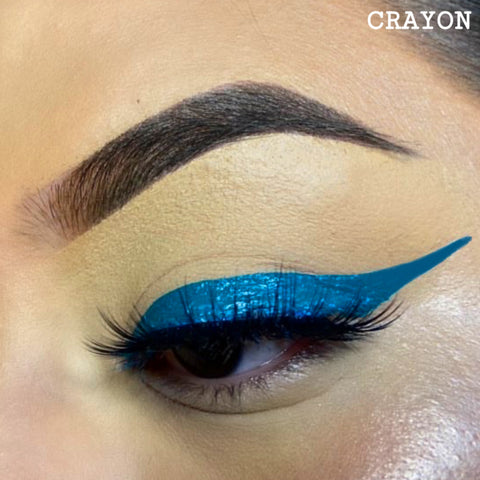 CRAYON - TEAL GRAPHIC LINER