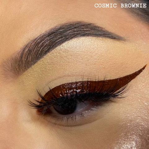 COSMIC BROWNIE - DARK BROWN GRAPHIC LINER