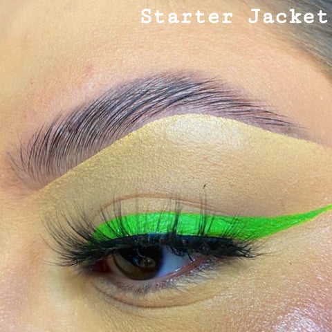 STARTER JACKET - GRASS GREEN GRAPHIC LINER