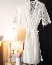 Lace Robe | White | Bridal, Maternity, Women's Robes | Boutique Range