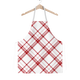 Candy Cane Plaid Apron