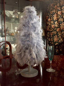 "Small Heather Gray ""American"" Feather Tree"