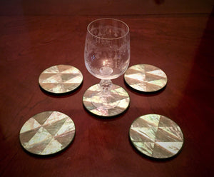 5 piece Abalone Shell Coasters