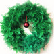 Christmas Green Feather Wreath