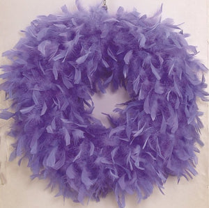Lavender Feather Wreath