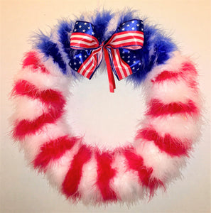 American Patriotic Feather Wreath