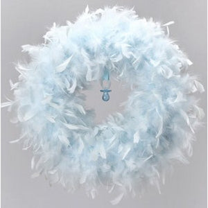 Baby Blue Feather Wreath